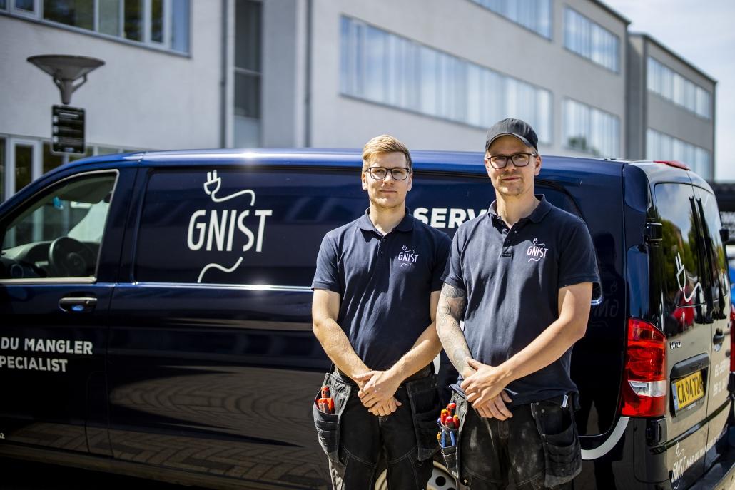 Elektrikere fra Gnist El-Service ApS